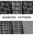 set seamless pattern with abstract geometric vector image vector image