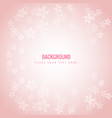 small sakura blossoms pink background image vector image