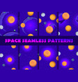 space seamless pattern set background with vector image