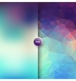square polygonal and blurred background vector image