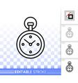 stopwatch simple black line icon vector image vector image