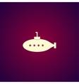 submarine icon Flat design style vector image