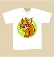 t-shirt print design squirrel vector image vector image