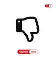 thumb down icon vector image