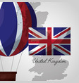 united kingdom places flag vector image