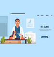 vet clinic landing page website template vector image