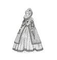 vintage sketch gentlewoman vector image vector image