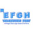 volumetric vintage alphabet font vector image vector image