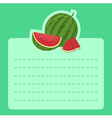 Watermelon Memo Notes vector image vector image