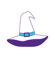 witch hat on color sections silhouette vector image
