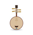 yueqin chinese string musical instrument vector image