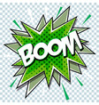cartoon comic graphic design for explosion blast vector image