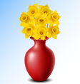 Vase with flower vector image