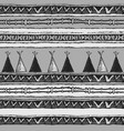 ethnic tribal wigwam seamless pattern vector image