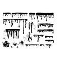 ink paint streaks spots and splatters set vector image
