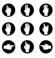 set of Black and white hands make number vector image