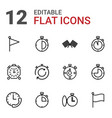 12 finish icons vector image vector image