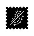 antimicrobial fabric feature black glyph icon vector image vector image