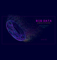 big data intelligence network web elements vector image