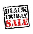 Black friday sale grunge vector image vector image