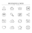 Business and web line icons set vector image
