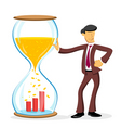 businessman with hourglass vector image vector image