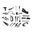 carpenter carpentry bricklayer equipment tool vector image