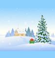 christmas morning house vector image