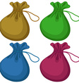 Coin bags vector image