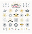 collection of vintage hand drawn elements rays vector image vector image