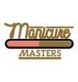 Color vintage manicure emblem vector image vector image