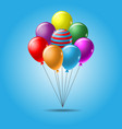 colorful balloon template vector image vector image