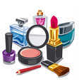 cosmetics and makeup vector image
