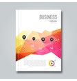 Cover Report Business Colorful Pink Red Triangle vector image vector image