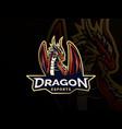 dragon logo template vector image vector image