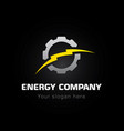 energy bolt company vector image
