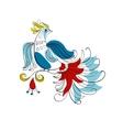 Fantasy Firebird in Russian ornamental style vector image