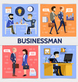 flat business square concept vector image vector image