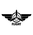 flight logo simple style vector image