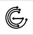 g ccg cg initials geometric network line logo vector image vector image
