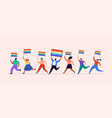 gay pride concept group people vector image