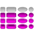 Glass buttons set vector image
