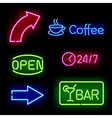 Glowing neon signs vector | Price: 1 Credit (USD $1)