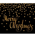 Gold calligraphic inscription Merry Christmas
