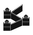 Great Wall of China icon simple style vector image vector image