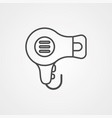 hair dryer icon sign symbol vector image vector image