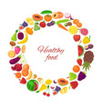 healthy food with organic fruits and vegetables in vector image
