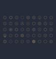 hexagon design elements template for logo vector image vector image