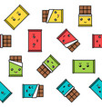 kawaii chocolate seamless pattern colorful vector image vector image