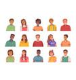 kids avatars set portraits smiling children vector image